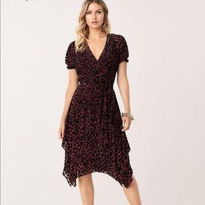 DVF Velvet Leopard Burnout Dress